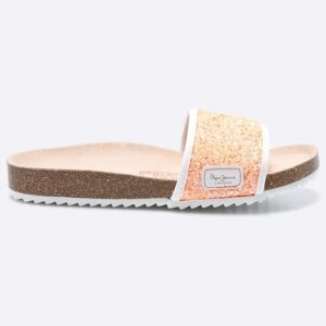 KLAPKI BIO GLITTERS ORANGE JR PEPE JEANS