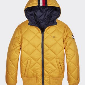 KURTKA REVERSIBLE QUILTED HOODED BOMBER
