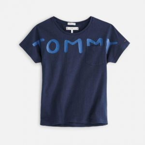 T-SHIRT BOLD TEXT TRUE RED KG0KG04202 002 TOMMY HILFIGER