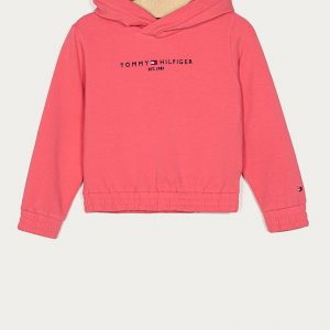 BLUZA ESSENTIAL HOODED GLAMOUR PINK TOMMY HILFIGER