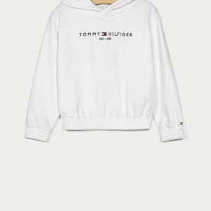BLUZA ESSENTIAL HOODED WHITE TOMMY HILFIGER