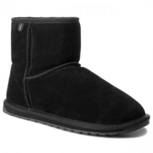BUTY WALLABY MINI TEENS BLACK EMU AUSTRALIA