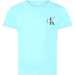 T-SHIRT BŁĘKITNY CHEST MONOGRAM CALVIN KLEIN