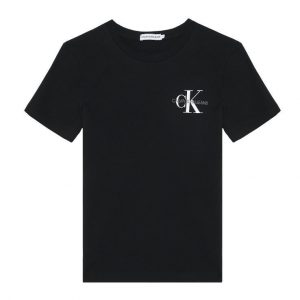 T-SHIRT CZARNY CHEST MONOGRAM CALVIN KLEIN